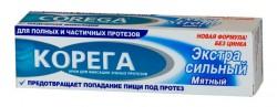 Крем, Корега для фиксации зубных протезов Экстра сильный мятный 70 мл
